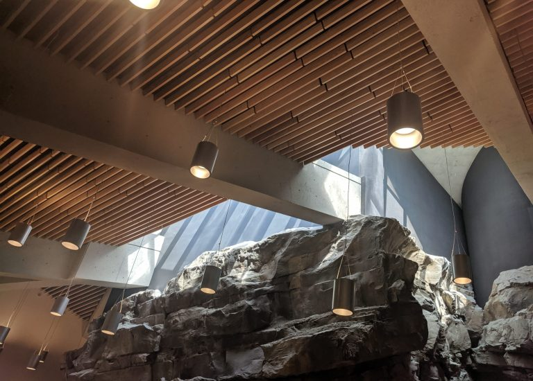 Lake Louise AB Visitor Center - Acoustic Linear Wood Ceiling